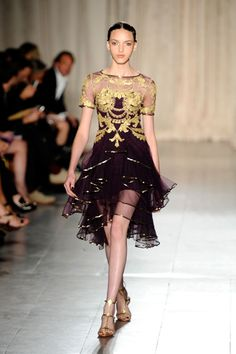 Marchesa Spring 2013 collection, NY Fashion Week.