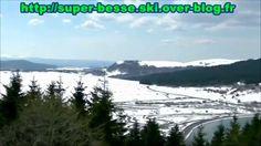 Vue de la station de ski Super Besse en mars 2014, depuis le pied du Puy de Chambourguet.