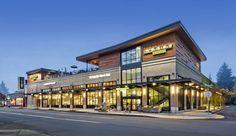 New exterior modern commercial Ideas Restaurant Exterior Design, Design Exterior, Facade Design, Modern Exterior, Mall Facade, Retail Facade, Architecture Résidentielle, Commercial Architecture, Mall Design