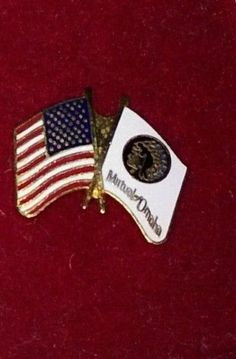 USA Flag / Mutual of Omaha flag Pin in box