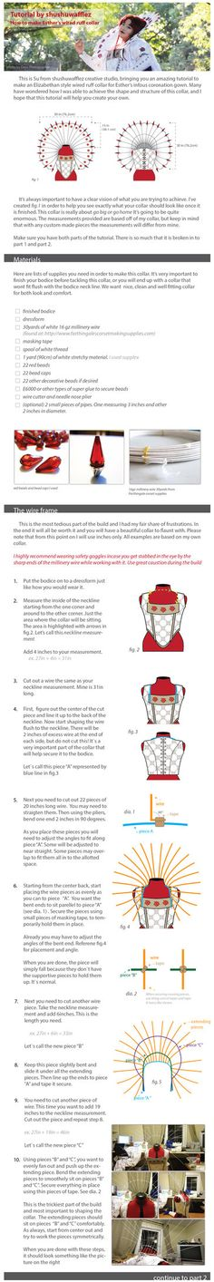 Hi everyone. Lot of people asked me about how I made the collar for Esther and I finally made a tutorial! Hope this will help many people. This tutorial had to be broken down to 2 parts. I will lin...