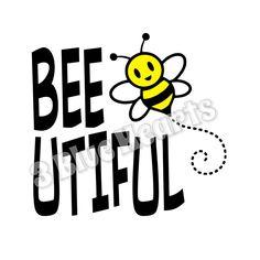 Bee-utiful SVG dxf Studio pdf jpg png by 3BlueHeartsDesign on Etsy