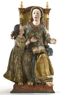 Santa Ana, Samurai, Victorian, Madrid, Anna, Painting, Saints, Madonna And Child, Sacred Art