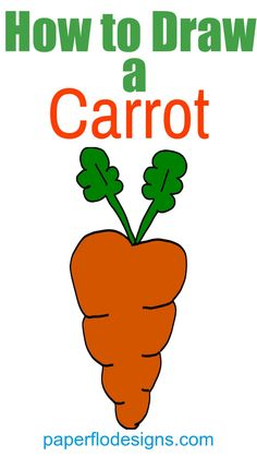 This carrot coloring page is great for every day drawing or as part of a themed art activity. It's large enough to print on a full sheet of paper and is easy to color. I think you'll enjoy this quick coloring sheet because it's fun and simple. Easy Drawing Steps, Step By Step Drawing, Drawing Tutorials For Beginners, Art Tutorials, Drawing Skills, Drawing Techniques, Coloring Books, Coloring Pages, Adult Coloring