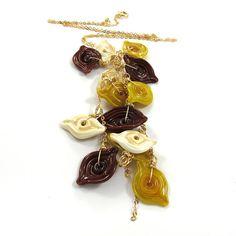 Glass Necklace  Lampwork Necklace  OOAK  by SariGlassman on Etsy, $85.00