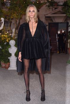 Front-Row at Burberry's September Collection, Cara Delevingne, Edie Campbell…