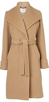 LK Bennett Hayley Luxe Belted Coat, Camel