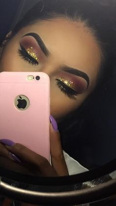 eye makeup looks best on me makeup glam makeup pads makeup jewels makeup for hooded eyes makeup in your eye makeup to eye makeup Flawless Makeup, Glam Makeup, Gorgeous Makeup, Pretty Makeup, Makeup Inspo, Eyeshadow Makeup, Beauty Makeup, Eyeshadows, Gold Glitter Eyeshadow