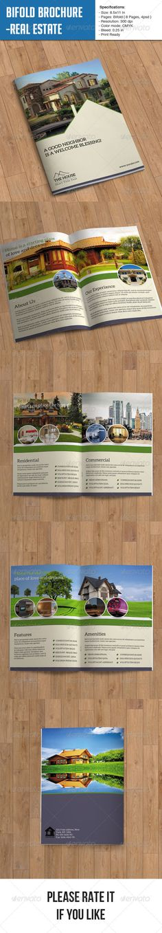 Real Estate Brochure  8 Page — Photoshop PSD #beautiful #building • Available here → https://graphicriver.net/item/real-estate-brochure-8-page/6992971?ref=pxcr