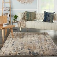 Shop Nourison Concerto Rustic Area Rug - On Sale - Overstock - 29439871 - x - Beige/Grey Rustic Area Rugs, Eclectic Area Rugs, Rug Over Carpet, Area Rugs For Sale, Area Rug Sizes, Cool Rugs, Online Home Decor Stores, Online Shopping, Home Decor Trends