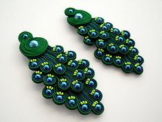 MOR - S/S 2012 (MOR di Chiara D'Agostino) Tags: blue green nature colors fashion animal necklace keychain handmade tail style peacock jewelry bijoux chain vogue pearl earrings trend must mode mor gem handcraft soutache soutaches