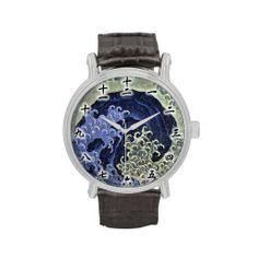北斎の波, 北斎 Hokusai Wave, Hokusai, Japan Art Watches