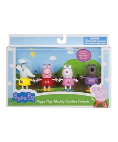 Look what I found on #zulily! Peppa Pig Muddy Puddles Friends Figurine - Set of Four by Peppa Pig #zulilyfinds