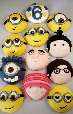 Minions Birthday Cake Despicable Me 3 Character Collection Cupcake Toppers