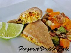 Fragrant Vanilla Cake: Raw Summer Squash and Cauliflower Samosas with Apricot Fig Chutney
