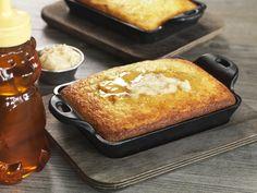 IRON SKILLET CORNBREAD @ Salt Creek Grille  Cast Iron Skillet-Baked, Honey Butter