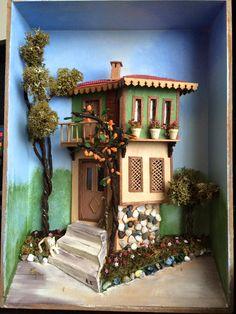 Clay Art Projects, Miniature Rooms, Box Art, Minis, 3 D, Decoupage, Buildings, Tile, Miniatures