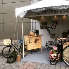If you happen to be in #Taipei this week ... stop in at the Taipei Bike Show for a beverage at the #custom MADSEN Coffee Bike ☕️🚲 #coffeebike #taipeibikeshow #2017 #madsenbike #bucketbike #jointhemovement