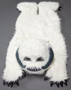 Star Wars Wampa Rug I could totally make one of these with some felt and white faux fur