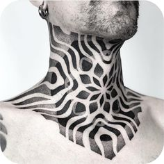 50 Incredibly Cool Neck Tattoos for Men and Women - diy tattoo images Simbolos Tattoo, Tattoos Masculinas, Wolf Tattoos, Throat Tattoo, Tattoo Hals, Black Tattoos, Sleeve Tattoos, Tatoos, Cross Tattoos
