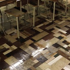 #floor found wood patchwork floor by Piet Hein Eek