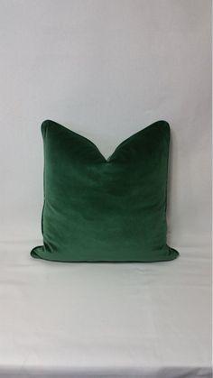 Kravet Versailles Velvet Emerald Green Pillow Cover