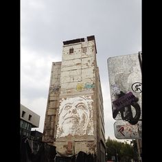 """@gabrielbeas's photo: """"Vhils en el @allcitycanvas #allcitycanvas #df #mexico #mexicocity #photooftheday"""""""