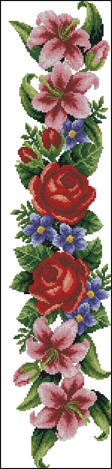 "Photo from album ""Ретро-цветы"" on Yandex. Cross Stitch Love, Cross Stitch Borders, Cross Stitch Flowers, Cross Stitch Charts, Cross Stitch Designs, Cross Stitching, Cross Stitch Embroidery, Cross Stitch Patterns, Hand Work Embroidery"
