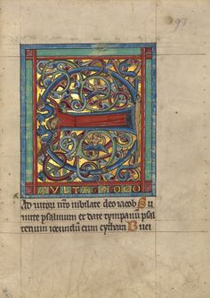 Initial E: A Female Figure; Unknown; Würzburg, Germany, Europe; about 1240 - 1250; Tempera colors, gold leaf, and silver leaf on parchment; Leaf: 22.7 × 15.7 cm (8 15/16 × 6 3/16 in.); Ms. Ludwig VIII 2, fol. 93; J. Paul Getty Museum, Los Angeles, California