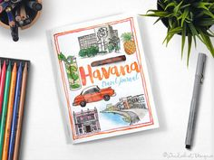 Your place to buy and sell all things handmade Viva Cuba, Havana Cuba, Journal, Pocket, City, Handmade Gifts, Travel, Kid Craft Gifts, Viajes