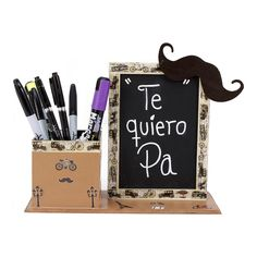 Proyectos |Lapicera para el día del padre Cute Crafts, Diy And Crafts, Crafts For Kids, Crafts To Sell, Diy Laser Cutter, Father's Day Activities, Honey Shop, Father's Day Diy, Dad Day