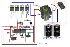 how to make inverter for amplifier? it so easy to make this circuit diagram. it's 12 voltage to voltage inverter circuit for amplifier. Electronics Mini Projects, Hobby Electronics, Electronics Basics, Diy Amplifier, Car Audio Amplifier, Electronic Circuit Design, Electronic Engineering, Amplificador 12v, Battery Charger Circuit
