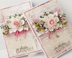 ideas birthday flowers woman handmade cards for 2019 Pretty Cards, Cute Cards, Scrapbook Cards, Scrapbooking, Cool Birthday Cards, Mixed Media Cards, Shabby Chic Cards, Beautiful Handmade Cards, Mothers Day Cards