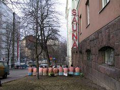 Public Sauna in the middle of Helsinki