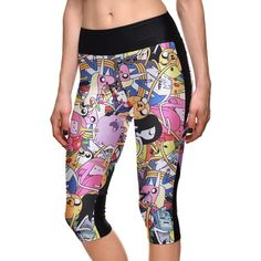Summer styles Sexy Hot women's 7 point pants Animation adventure time digital print women high waist Side pocket phone pants #Affiliate