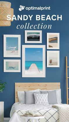 Summer breeze and endless blue skies in your bedroom with our Sandy Beach framed Art Print Posters Beach Frame, Inspirational Wall Art, Blue Skies, Summer Breeze, Typography Poster, Beach Art, Framed Art Prints, Gallery Wall, Posters