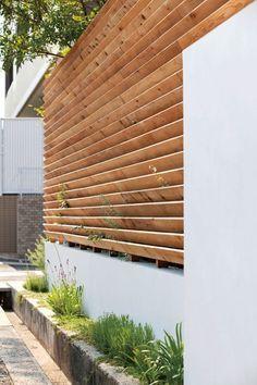 和想デザイン | project | Our works Gate Design, Facade Design, Exterior Design, Interior And Exterior, House Design, Backyard Fences, Backyard Landscaping, Privacy Fence Designs, House Front