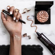 Getting the perfect gilded glow with @LauraMercier. Loving the natural radiance the Face Illuminator in Indiscretion gives my skin and the beautiful pop of color the Caviar Stick Eye Colour in Copper gives my eyes!  And of course the Tinted Moisturizer with SPF is a must for summer!  #MakeupByMercier