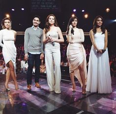 This is Jodi Sta. Maria, Piolo Pascual, Bea Alonzo, Liza Soberano, and Kathryn Bernardo smiling for the camera while doing their hosting stint during Star Magic Day and Star Magic 23rd Anniversary on ASAP 20 at ABS-CBN Studio 10 last July 27, 2015. Indeed, they're my favourite Kapamilyas, and they're amazing Star Magic talents. #JodiStaMaria #PioloPascual #BeaAlonzo #LizaSoberano #AteHopie #KathrynBernardo #TeenQueen #ASAPStarMagicDay #StarMagic23 #starmagic23rdanniversary Magic Day, Star Magic, Child Actresses, Child Actors, Bea Alonzo, Born Again Christian, Liza Soberano, Cocktail Outfit, Kathryn Bernardo