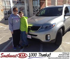 #HappyAnniversary to Kristi Box on your 2014 #Kia #Sorento from Kathy Parks at Southwest KIA Rockwall!