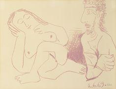 Buste d'homme et femme nus, 2 June 1969 | Pablo Picasso, Buste d'homme et femme nus, 2 June 1969 (1969)