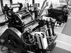 "This is my mid-life crisis dream machine!  A Heidelberg letter press - I had the pleasure of using one in school and it was love at first sight.  I wonder if they come in ""Candy Apple Red?"""
