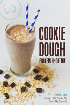 Let's be honest - who DOESN'T love #CookieDough?? Try this healthy spin on a favorite treat! Recipe: 1 cup unsweetened almond milk 1 scoop vanilla IdealShake 1/2 of a banana 1/4 cup oats 1/4 to 1/2 tsp. cinnamon 1 tsp. vanilla extract 2 T PB2 1/2 T dark chocolate chips Add ice, blend and enjoy!