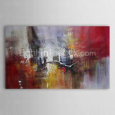Pintada a mano Abstracto Un Panel Lienzos Pintura al óleo pintada a colgar For Decoración hogareña - EUR €41.64