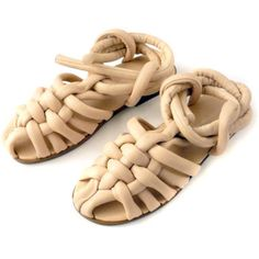 these sandals look like they're made out of dough Sock Shoes, Cute Shoes, Me Too Shoes, Shoe Boots, Huarache, Walk This Way, Crazy Shoes, Beautiful Shoes, Designer Shoes