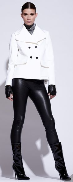 Pink Tartan Fall 2012 collection at The Bay Scarborough Town Centre. #black #white #fashion
