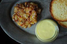 Shrimp Burgers with Roasted Garlic-Orange Aioli.  And totally paleo minus the bun.