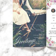 プロフィールブック/結婚式/席次表/メニュー表/セミオーダー/花柄/ブルー/上品/海外風/ピンク/ラベンダーprofilebook/wedding//flower/pink/lavender