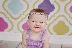 Square Rhinestone Baby Headband