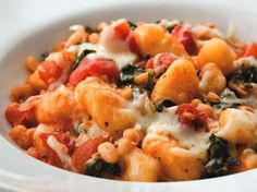 Two Cheese Gnocchi with Swiss Chard & White Beans